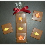 Autumn Triple Chocolate Layered Squares with Candy Coating