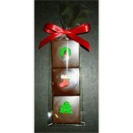 Christmas Triple Chocolate Layered Squares with Candy Coating