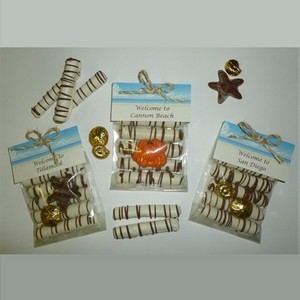 Chocolate Dipped Pretzels for a Dock with Candy Ocean Critter