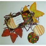 Autumn Fancy Chocolate Dipped Sandwich Cookie 2 Pack