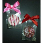 Valentine Heart Chocolate Dipped Fancy Sandwich Cookie