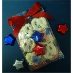 Patriotic Pretzel Bag with Foiled Stars
