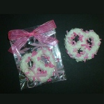 Breast Cancer Awareness Chocolate Covered Pretzel Knot