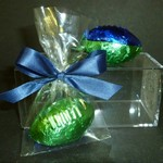 Foiled 3D Chocolate Football