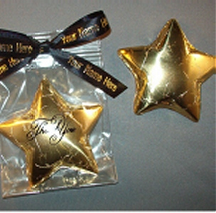 Chocolate Foiled Thank You Star