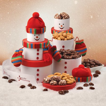 Charming Snowman Gift Tower